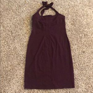 Burgundy Athleta Halter Dress-6